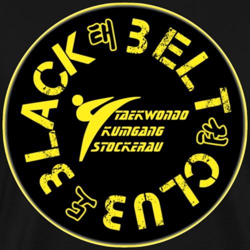 Black Belt Club - solid black - Männer Premium T-Shirt