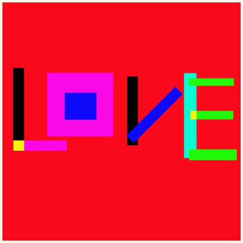 Love rosso - Maglietta Premium da uomo