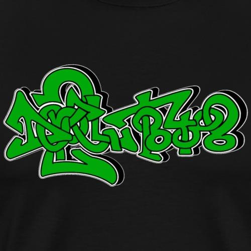 Do2peltlogofuercapi Zwei Mittelfinger Graffiti - Männer Premium T-Shirt