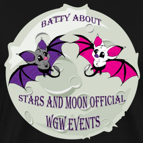 Batty About Stars and Moon - Men's Premium T-Shirt