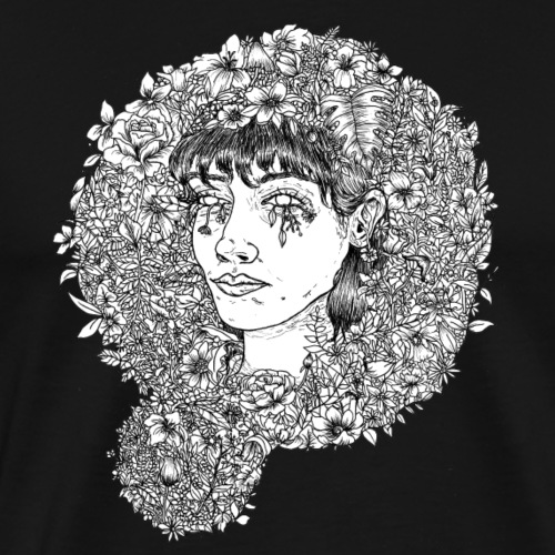 Blumiger Kopf - Männer Premium T-Shirt