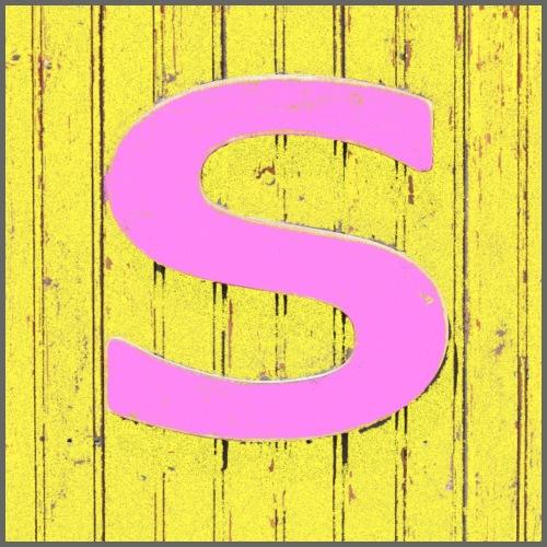 S rosa e giallo - Maglietta Premium da uomo