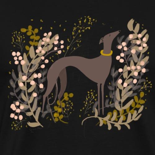 Windhund im Herbst - Männer Premium T-Shirt