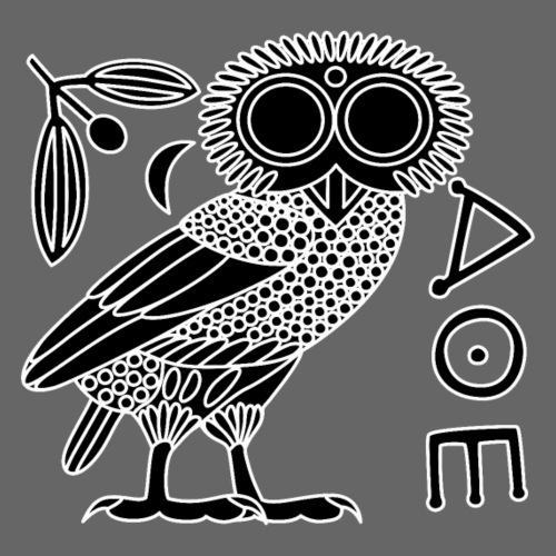 Owl of Athena [Black + Ethnicon] - Men's Premium T-Shirt