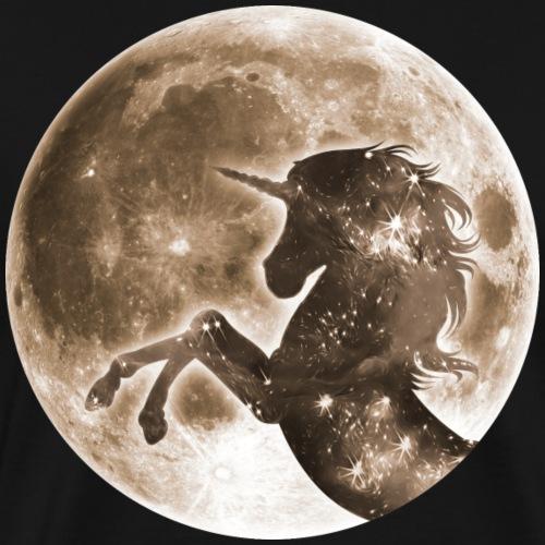 Magisches Einhorn, Vollmond Mond, Space - Männer Premium T-Shirt
