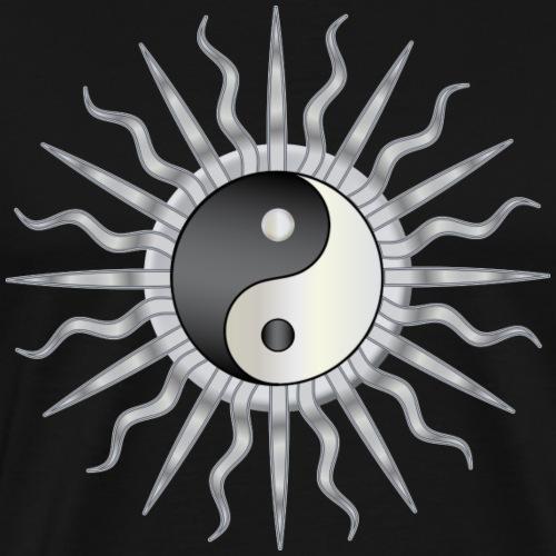 Black Starburst Yin Yang - Men's Premium T-Shirt