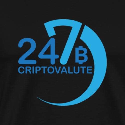 Criptovalute 247 Logo 2 - Maglietta Premium da uomo