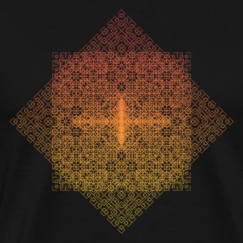 Square Fractal Pattern Gradient - Men's Premium T-Shirt