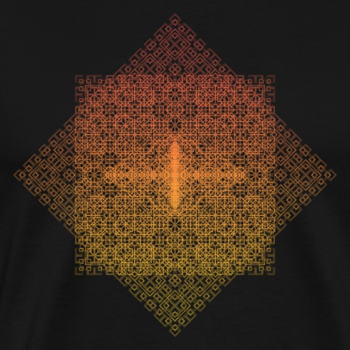 Square Fractal Pattern Gradient - Men's Premium T-Shirt