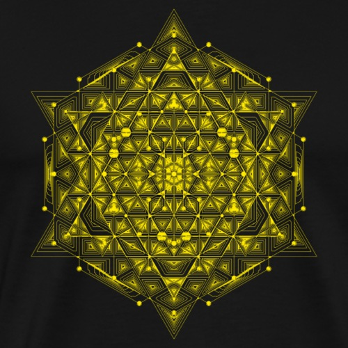 Sacred Hypercube Yellow - Men's Premium T-Shirt