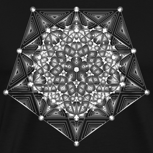 Pentagon Star Dimensions - Men's Premium T-Shirt