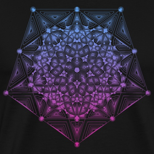 Pentagon Star Dimensions Gradient - Men's Premium T-Shirt