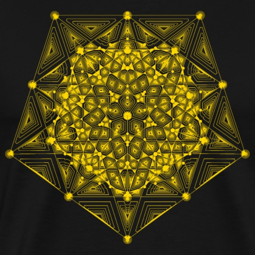 Pentagon Star Dimensions Yellow - Men's Premium T-Shirt