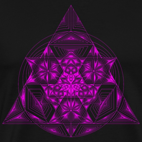 Triangle SuperFlower Violet - Men's Premium T-Shirt