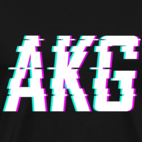 AKG Weiß Glitched - Männer Premium T-Shirt