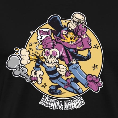 Diabolito & Skelettus - T-shirt Premium Homme