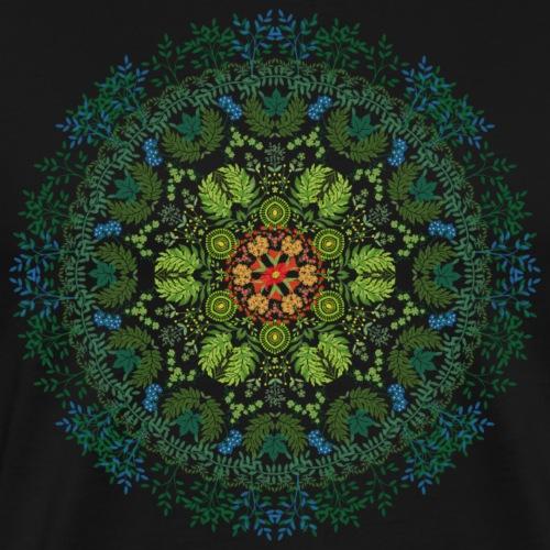 Floral watercolor mandala - Männer Premium T-Shirt