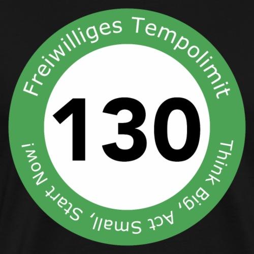 Freiwilliges Tempolimit 130 - Männer Premium T-Shirt