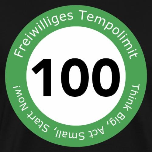 Freiwilliges Tempolimit 100 - Männer Premium T-Shirt