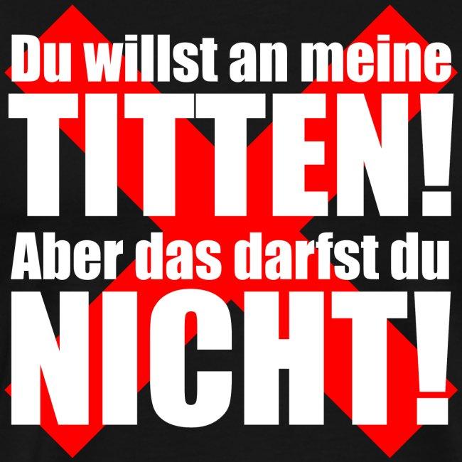 Titten Verbot Witz Kreuz Typografie