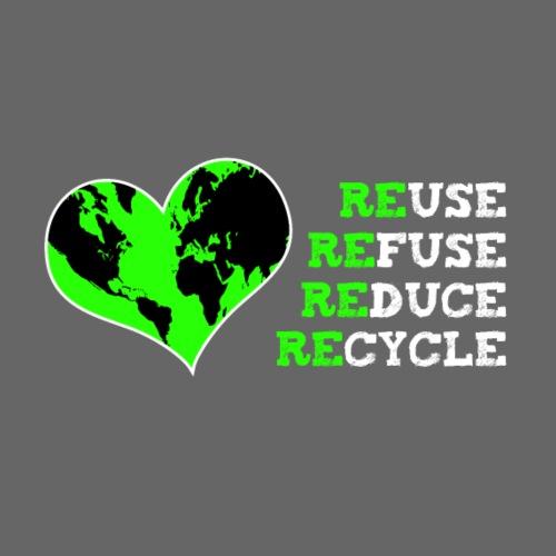 reuse refuse reduce recycle - Männer Premium T-Shirt