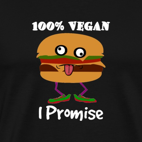 100% Vegan I Promise - Men's Premium T-Shirt