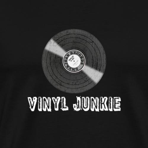 Vinyl Junkie - Schallplattenfreund - Männer Premium T-Shirt