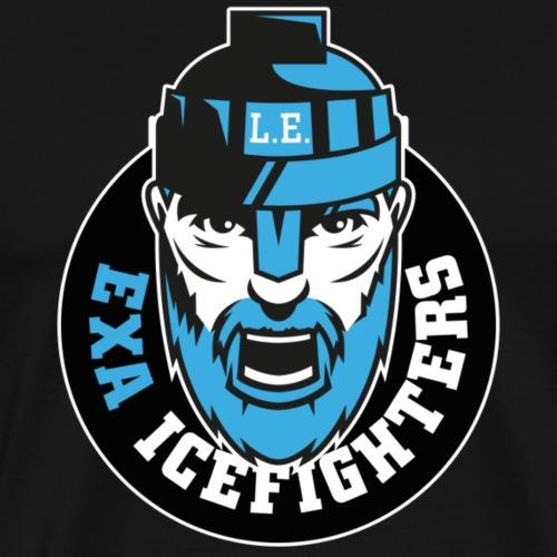 EXA IceFighters Logo weißer Rand - Männer Premium T-Shirt