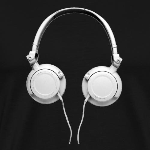 Hip Hop Retro Kopfhörer - Männer Premium T-Shirt