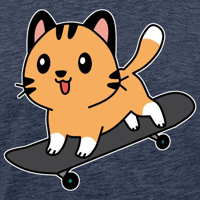 Skatende Katze