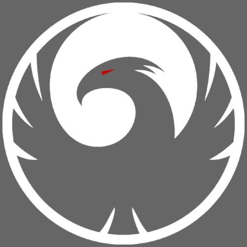 Phönix Logo Schattierung Phoenix weis white rund - Männer Premium T-Shirt