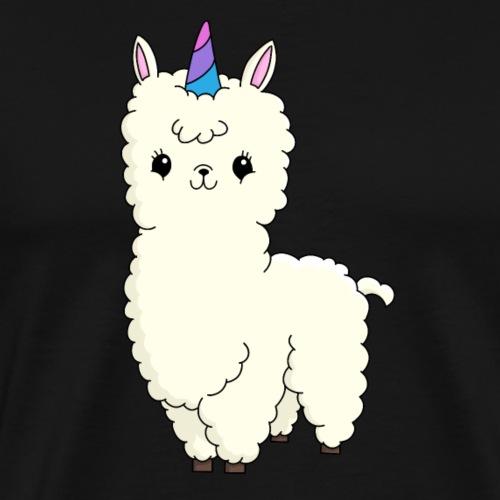 Cute Llamacorn - Men's Premium T-Shirt