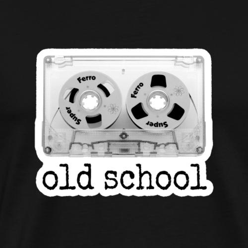 oldschool tape cassette - Männer Premium T-Shirt