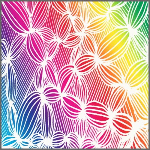 Linee curve arcobaleno - Maglietta Premium da uomo