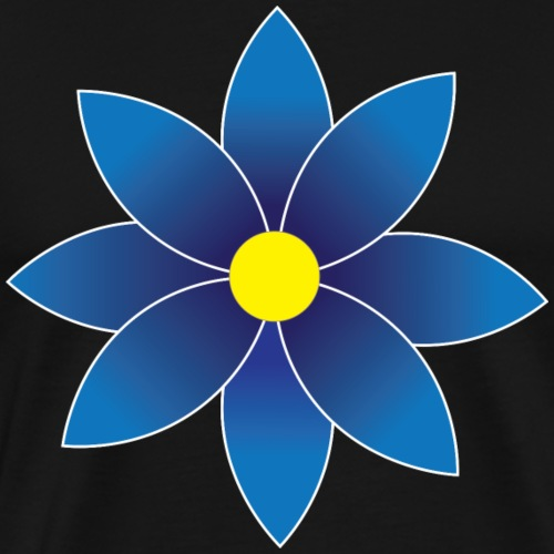Graduated Blue Daisy Flower - Men's Premium T-Shirt