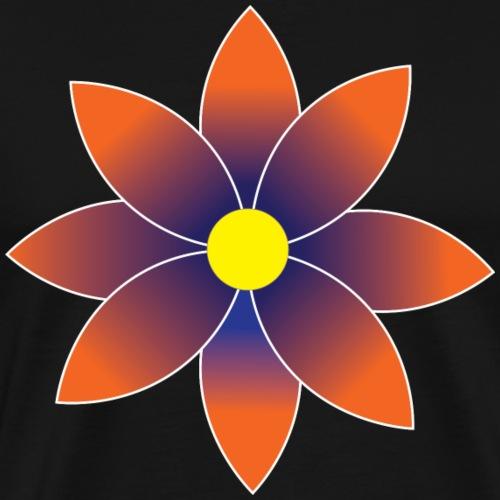 Graduated Orange Daisy Flower - Men's Premium T-Shirt