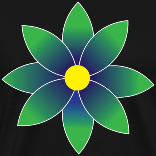 Graduated Green Daisy Flower - Men's Premium T-Shirt