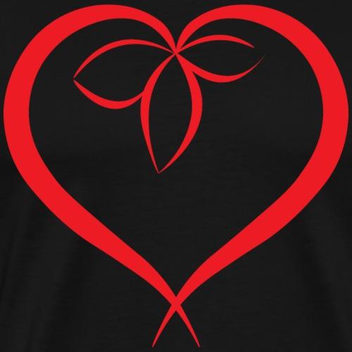 Flower in a heart - Red - Men's Premium T-Shirt