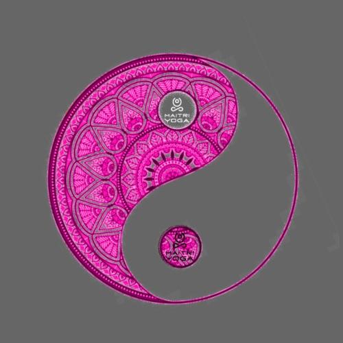 Mandala YinYang Pink MaitriYoga - T-shirt Premium Homme