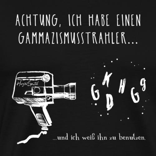 Gammazismusstrahler BLACK EDITION - Männer Premium T-Shirt