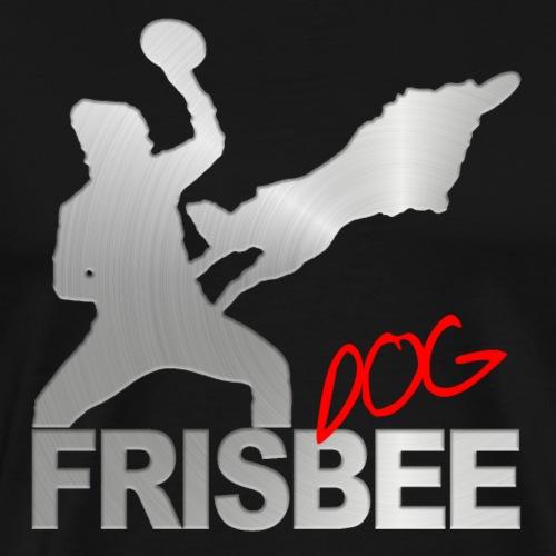 Frisbee Dog Silber - Männer Premium T-Shirt