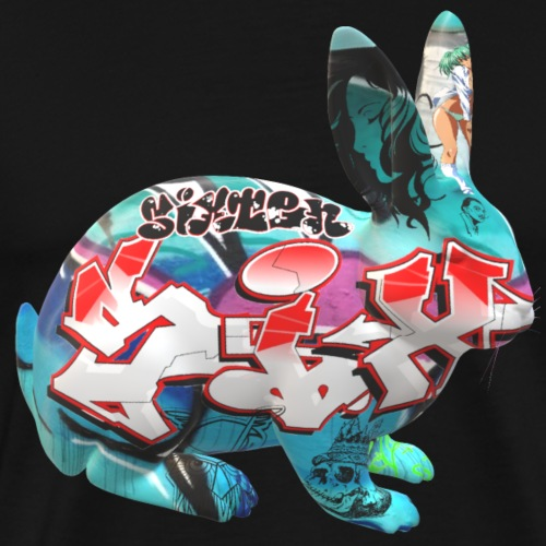 Graffiti rabbit - Premium-T-shirt herr