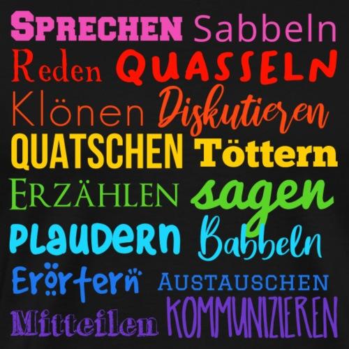 Sprechwörter Regenbogen - Männer Premium T-Shirt