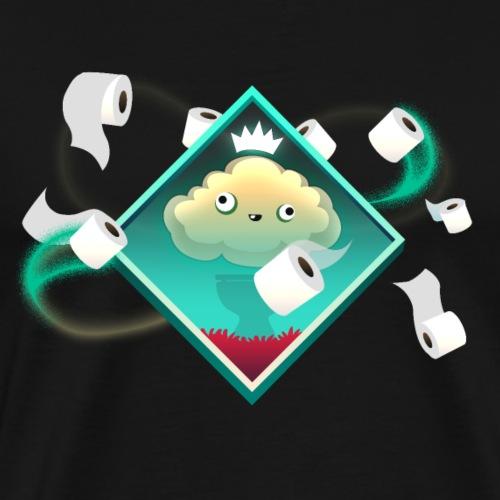 Toilet paper king - Men's Premium T-Shirt