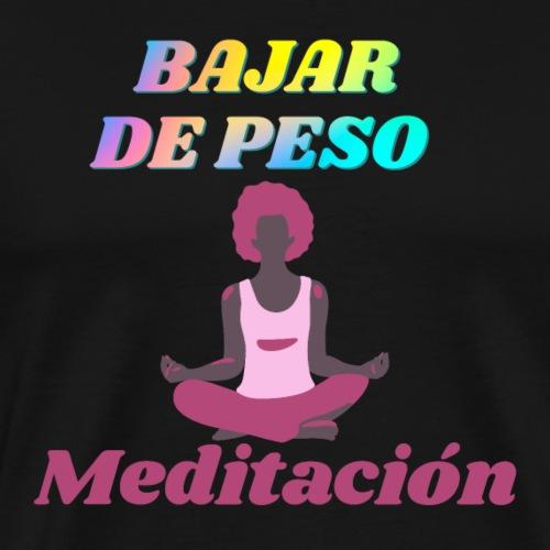 Yoga y meditación - Camiseta premium hombre