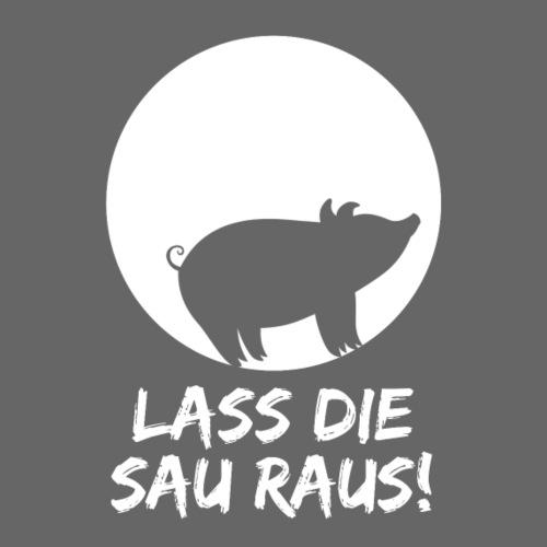 Lass die Sau raus! Veganismus - Tierschutz - Party - Männer Premium T-Shirt