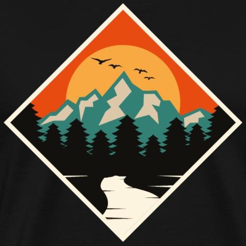Natur Bäume Sonne - Männer Premium T-Shirt