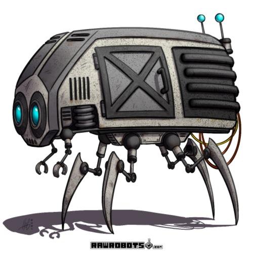 The C.O.W. Robot! (Convenient Office Walker) - Herre premium T-shirt