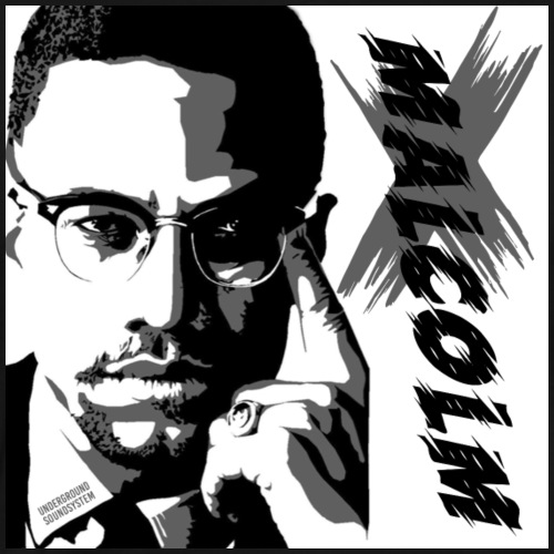 Malcom X Black and White - Männer Premium T-Shirt
