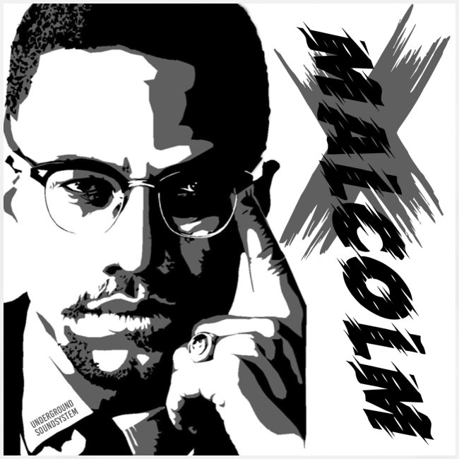 Malcom X Black and White